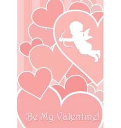 Valentine Card Design vector image vector image