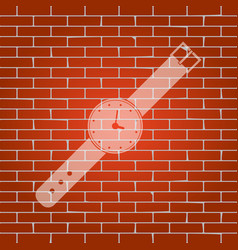 Watch sign whitish icon on vector