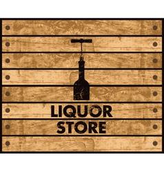 Wine store vector image vector image
