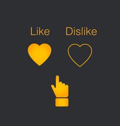 you decide like or dislike vector image