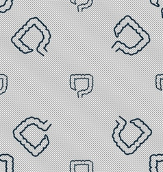 Large intestine sign seamless pattern with vector