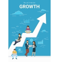 Business growth concept of people vector