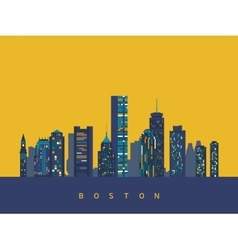 Boston abstract skyline vector image