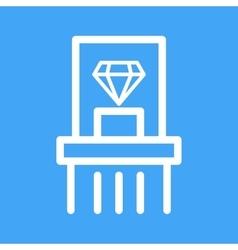 Diamond exhibit vector
