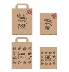 fast food packages set vector image