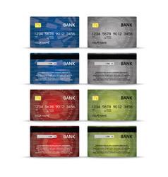 credit or debet cards design set vector image