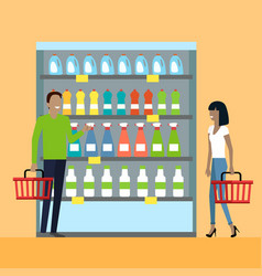 Consumers choice concept in flat design vector