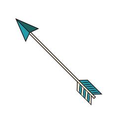 arrow style boho icon vector image