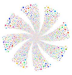 drop fireworks swirl rotation vector image