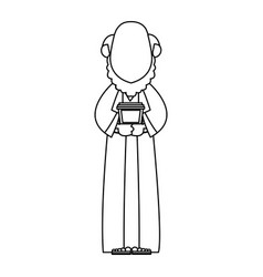 Cartoon wise king manger christianity image vector