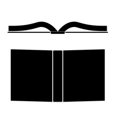 book the black color icon vector image