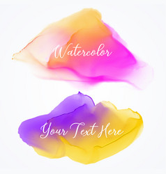 Bright watercolor stain texture background vector