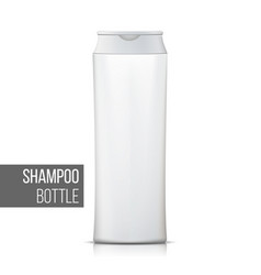white shampoo bottle empty realistic vector image