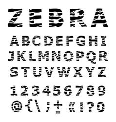 Zebra alphabet vector