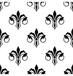 Ornate fluer de lys seamless pattern vector