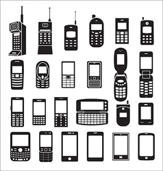Set of mobile phone icons vector