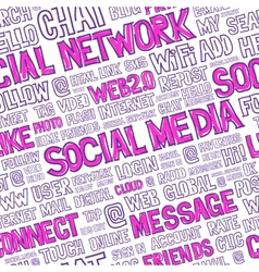 Social media words seamless pattern vector