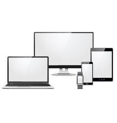 Modern electronic devices set vector