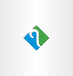 Green blue letter q logo logotype icon vector