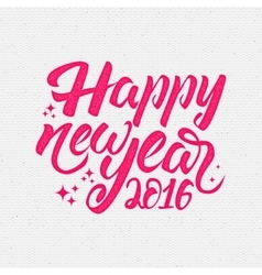 Happy new year label for greeting card vector
