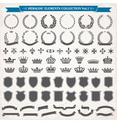 Heraldic elements set 1 vector