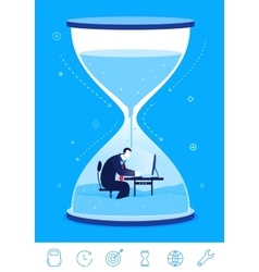 business concept deadline vector image