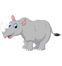 Cartoon rhino for you design vector