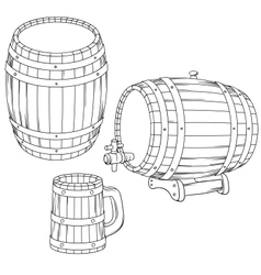 a barrel mug isolated on white vector image vector image