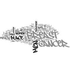 A rare case of male breast cancer text word cloud vector