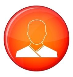 Buddhist monk icon flat style vector