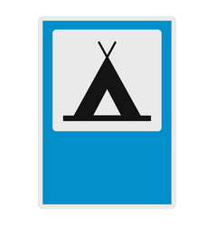 Camping icon flat style vector