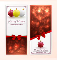 christmas baubles banners vector image vector image