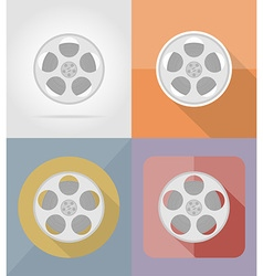 Cinema flat icons 05 vector