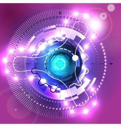 Circular abstract spaceship vector