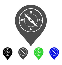 compass map marker flat icon vector image