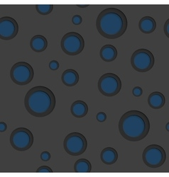 Dark blue circles abstract background vector image vector image