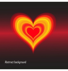 EPS10 abstract background with heart vector image