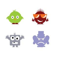funny head color vector image vector image