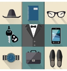 Gentleman business suit set vector image vector image