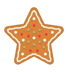 Gingerbread star vector