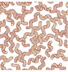 Hand drawn pasta cavatappi seamless pattern vector