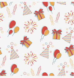 holiday seamless pattern vector image