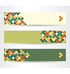 Horizontal banners with squares vector