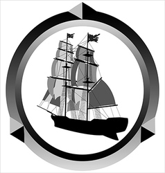 icon of a sailboat vector image vector image
