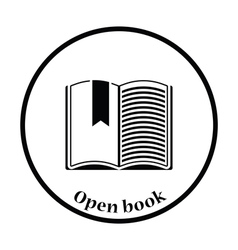 Icon of Open book with bookmark vector image vector image