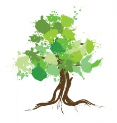 ink splat tree vector image vector image