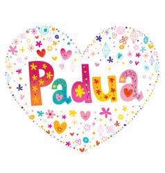 padua city in italy vector image