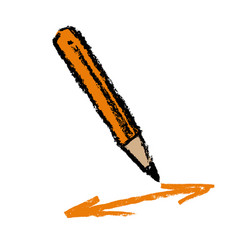 Pencil and arrows vector
