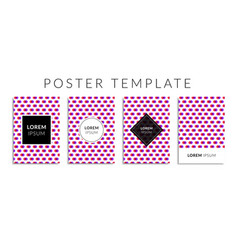 Poster set with colorful circle shape pattern vector