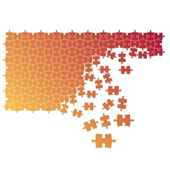 Puzzle with combining elements vector